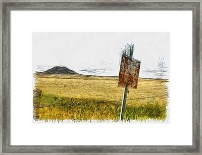 Mt Dora - Sketch Framed Print by Nicholas Evans