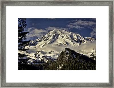 Mt Rainier Framed Print by Heather Applegate