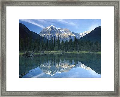 Mt Robson Highest Peak In The Canadian Framed Print by Tim Fitzharris
