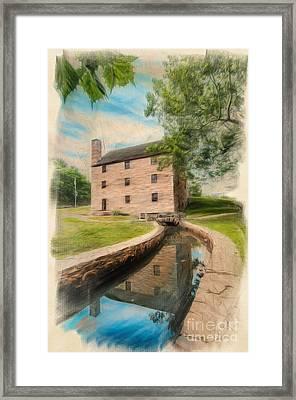 Mt. Vernon Gristmill Art Framed Print by Jim Moore