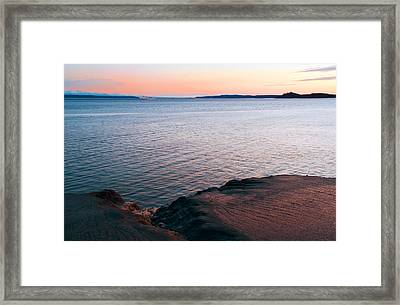 Mud Blushing Framed Print by Ron Day