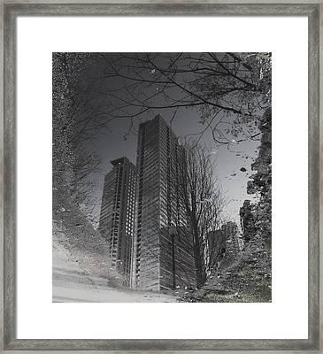 Mud Puddle Reflection I Framed Print by Anna Villarreal Garbis