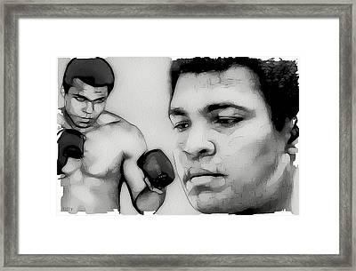 Muhammad Ali Framed Print by Tilly Williams