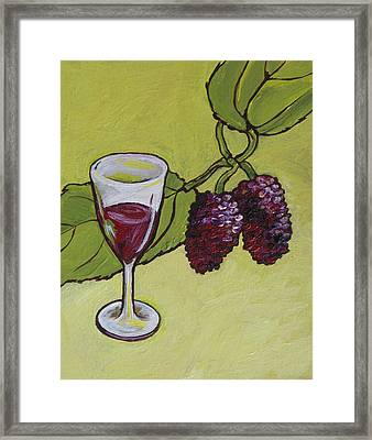 Mulberry Wine  Framed Print by Sandy Tracey