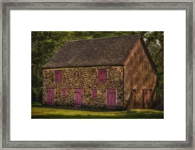 Mule Barn  Framed Print by Susan Candelario
