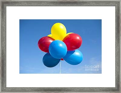 Multi-colored Balloons Framed Print by Paul Edmondson