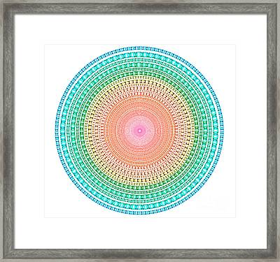 Multicolor Circle Framed Print by Atiketta Sangasaeng
