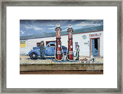 Mural Art At Consul Framed Print by Bob Christopher
