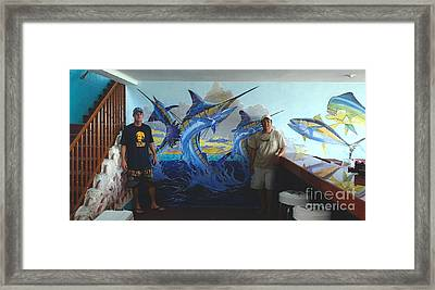Mural In Bimini Framed Print by Carey Chen