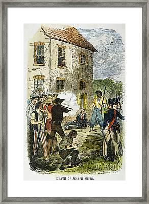 Murder Of Joseph Smith Framed Print by Granger