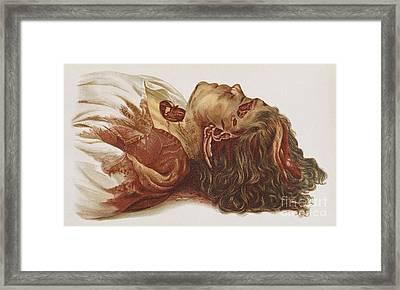 Murder Victim 1898 Framed Print by Science Source