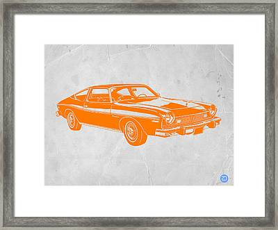 Muscle Car Framed Print by Naxart Studio