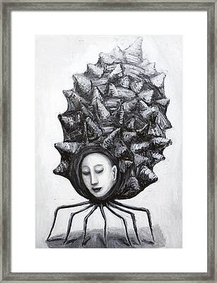 Muse In A Shell Framed Print by Kazuya Akimoto