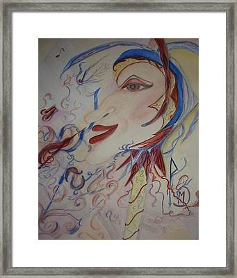 Music And Rune Jester Framed Print by Marian Hebert
