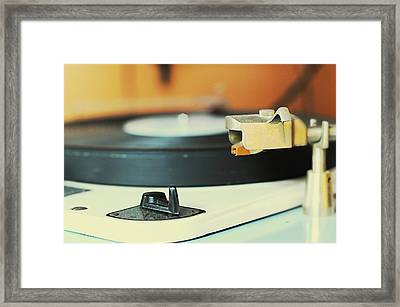 Music Disc Framed Print by Alexandre Marques