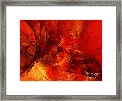 Music In Motion Framed Print by Andee Design