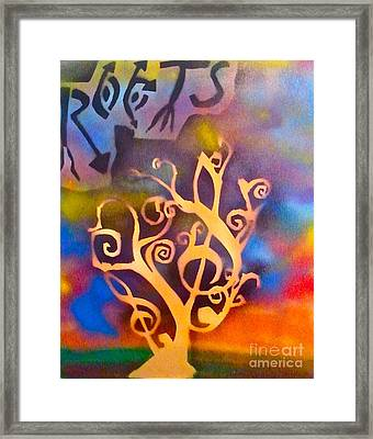 Musical Roots Framed Print by Tony B Conscious