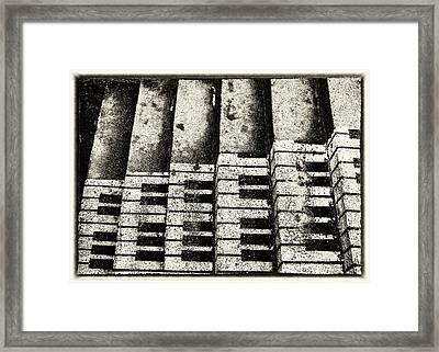 Musical Scale Framed Print by Hakon Soreide