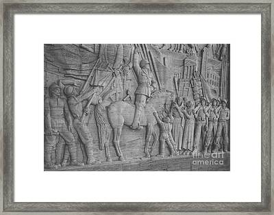 Mussolini, Haut-relief Framed Print by Photo Researchers