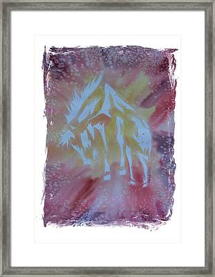 Mustang Dance Framed Print by Mark Schutter