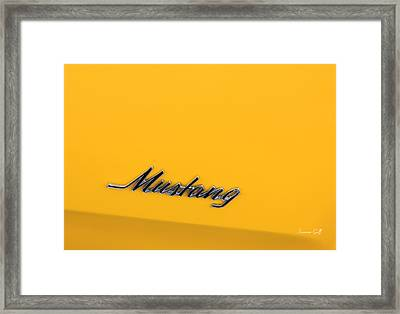 Mustang Framed Print by Suzanne Gaff
