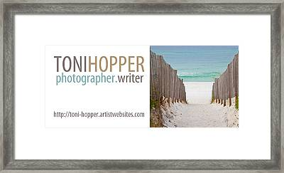 My Business Card Framed Print by Toni Hopper