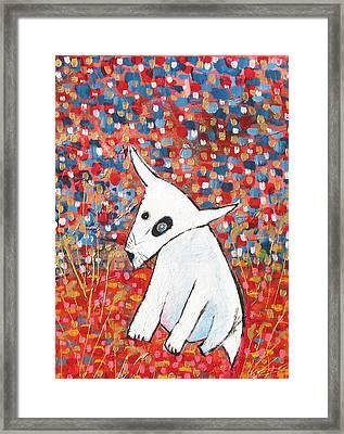 My Dog Blackie Framed Print by Maureen Rocksmoore