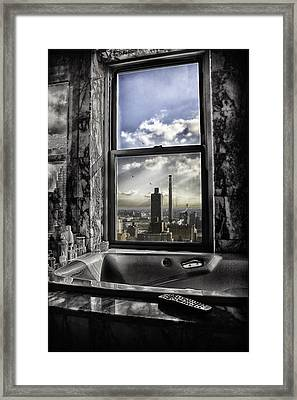 My Favorite Channel Is Manhattan View Framed Print by Madeline Ellis