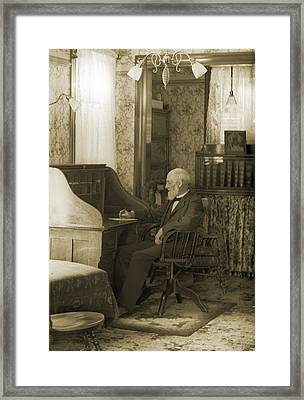 My Great-great-grandfather 1885 Framed Print by Jan W Faul