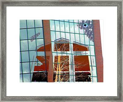 My Idea Of A Cathedral Framed Print by Lenore Senior