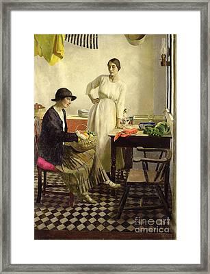 My Kitchen Framed Print by Harold Harvey
