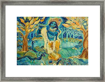 My Krishna Is Blue Framed Print by Ashleigh Dyan Bayer