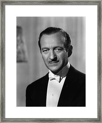 My Man Godfrey, David Niven, 1957 Framed Print by Everett