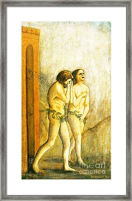My Masaccio Expulsion Of Adam And Eve Framed Print by Jerome Stumphauzer
