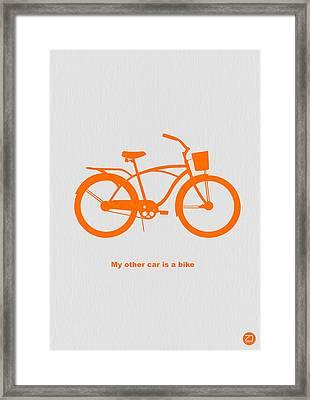 My Other Car Is Bike Framed Print by Naxart Studio