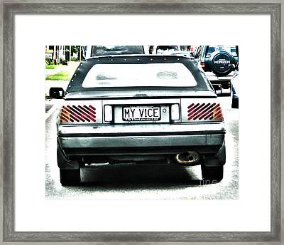 My Vice Framed Print by Joanne Kocwin
