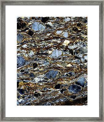 Mylonite Mineral, Light Micrograph Framed Print by Dirk Wiersma
