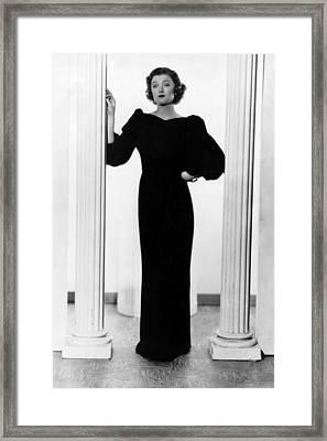 Myrna Loy, Ca. 1935 Framed Print by Everett