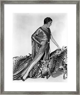 Myrna Loy, Fox, 1931 Framed Print by Everett