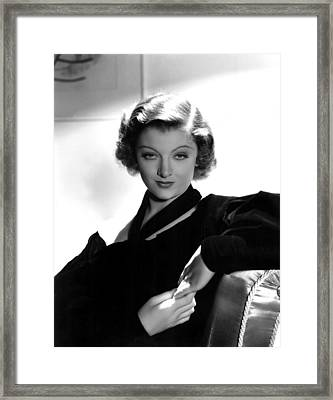 Myrna Loy, Mgm, 7236 Framed Print by Everett