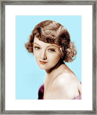 Myrna Loy, Mgm Portrait, 1930s Framed Print by Everett