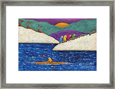 Mysterious North Framed Print by Anne Klar