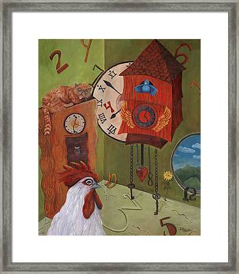 Mysterious Time Framed Print by Debbie McCulley
