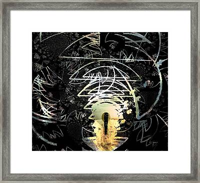 Mystery Of The Source And Imitators Of God Framed Print by Fania Simon