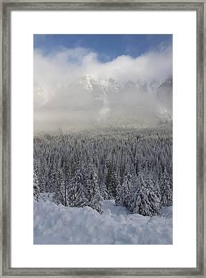 Mystic Peaks Framed Print by Sylvia Hart