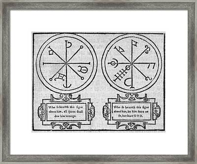 Mystical Pendants, 16th Century Framed Print by Middle Temple Library