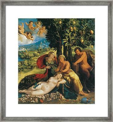 Mythological Scene Framed Print by Dosso Dossi