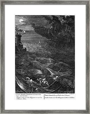 Mythology: Leander Framed Print by Granger