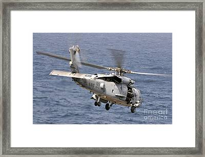 N Hh-60h Sea Hawk Helicopter In Flight Framed Print by Stocktrek Images