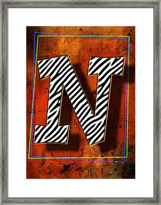 N Framed Print by Mauro Celotti